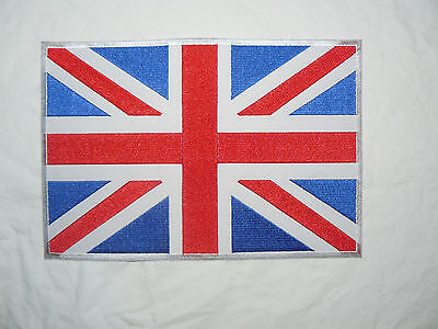 Union Jack Mods Large Iron-on/sew-on Embroidered Patch Motorcycle Biker