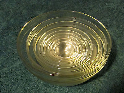 Arco 9 Piece Nesting Bowl Set - Clear - Made in France, from estate