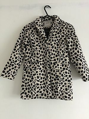 Next Girls Jacket Age  5-6 Years Dalmation Print Faux Fur