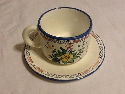 Lisbon for Tiffany & co. hand painted in portugal cup and saucer