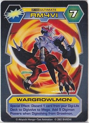 DIGIMON D-TECTOR CARD - BOOSTER SERIES 3 - DT-100 WARGROWLMON Ultimate Level