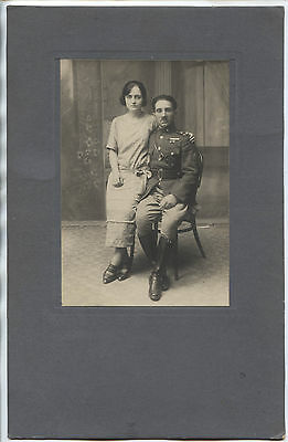 Greece Greek Officer With His Wife Jannina 9 Sept 1924