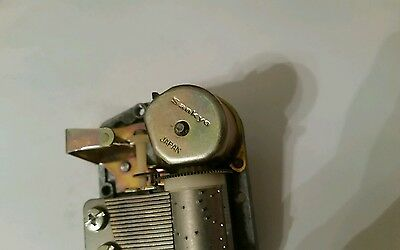 Vintage Sankyo Music Box Movement wind up mechanism
