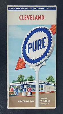 1960 Clevelnd street  map Pure Oil Company Parma Brooklyn