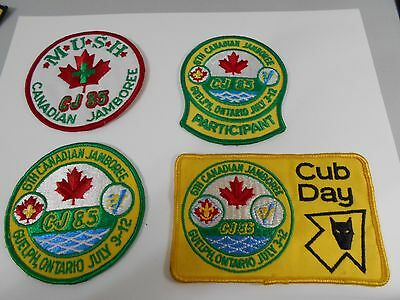 (Nt9-R) Fifteen Different  6Th Canadian Scout Jamboree Badges  Unused