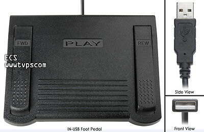 IN-USB-1 Computer Transcription Foot Pedal Infinity USB Foot Pedal