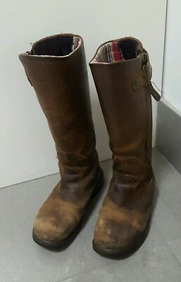 Kanyon Gorse X-Rider Leather Riding Boots Girls Size 3