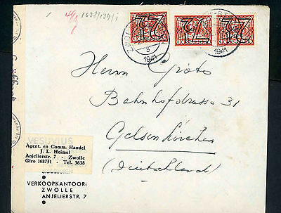 1941 German Occupation censored  cover to Germany