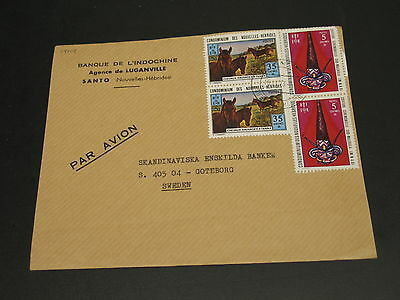 New Hebrides 1973 airmail cover to sweden *14704