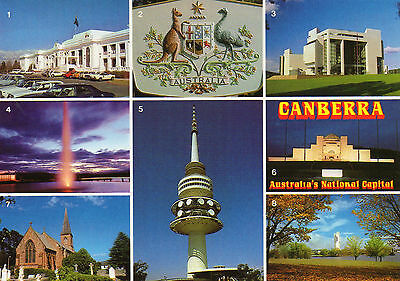 AUSTRALIA multiview postcard Canberra ACT