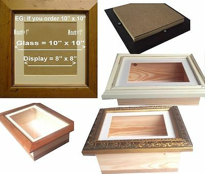 "DEPTH DEEP 2.5"" INCH UK 3D Shadow Box  Picture Frame Display Case Medals casts"
