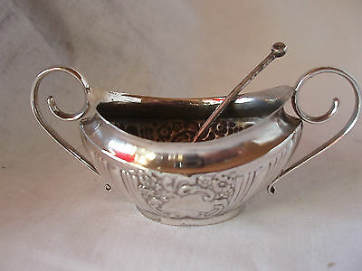 Embossed Bowl & Spoon Sterling Silver Sheffield 1902