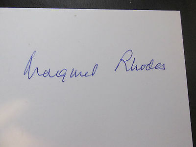 The Hon. Margaret Rhodes - Queen Elizabeth Ii Cousin Hand Signed Photograph
