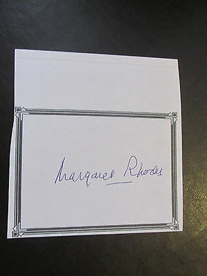 The Hon. Margaret Rhodes - Queen Elizabeth Ii Cousin Hand Signed Bookplate