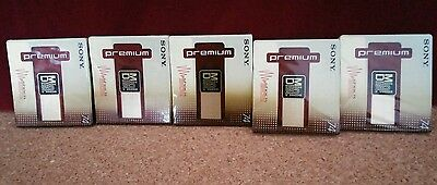 Job lot of 5 Sony Mini Disc Blank Brand new  and sealed