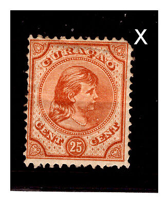Curacao 1892 Stamp.  Mounted.  #789