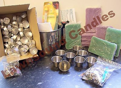 Scented Christmas Votive Candle & Tea light Making Kit, inc 2k of wax