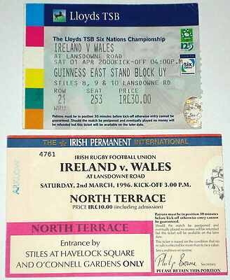 Wales Ireland Rugby Union Tickets 1996 2000  (2)