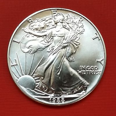 "USA: 1 Dollar ""American Silver Eagel"" 1988 - Original - 1 Oz. Ag. - unc./stgl.!!"