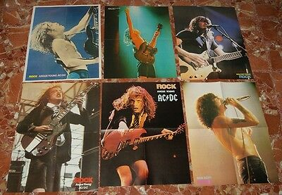 Ac/dc Spanish Poster Lot 1981 To 1984