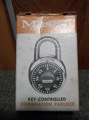 Vintage Master Key-Controlled Combination Padlock - In Original Box - 1525
