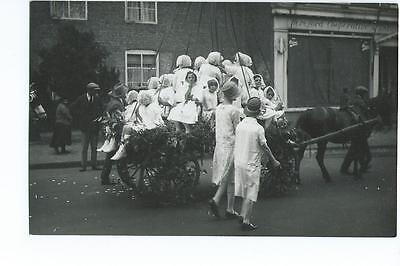 Herefordshire RP of a Ledbury pageant @1930s?