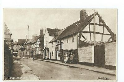 Herefordshire, Printed view of Newmarket St. Ledbury@1930