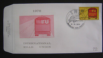 "FDC 1807 ""International Road Union"" - BRUXELLES !"