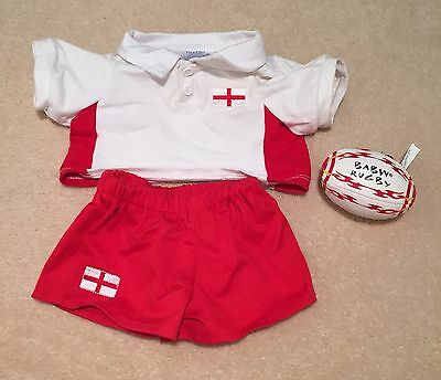 Build a Bear England Rugby outfit and rugby ball
