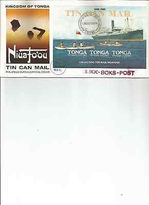 1982 Tonga Tin Can Mail Centenary Fdc Cover