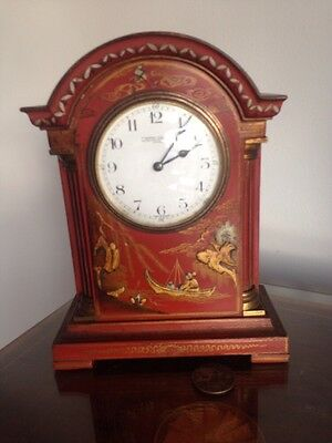 Antique Chinoiserie Mantle Clock By Camerer Cuss & Co @ 1990