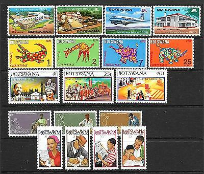 BOTSWANA --1965 - 1981 -- 6 Short Sets