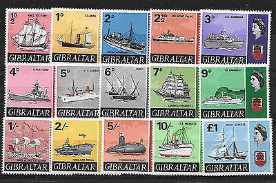GIBRALTAR --1967 Ships Issue in MNH