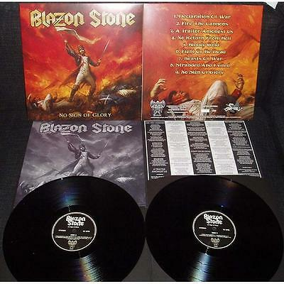 BLAZON STONE- No Sign Of Glory LIM. 350 BLACK VINYL ala RUNNING WILD power metal