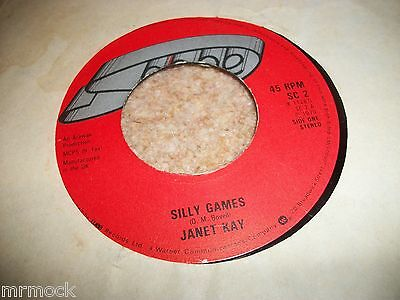"JANET KAY- SILLY GAMES VINYL 7"" 45RPM p"