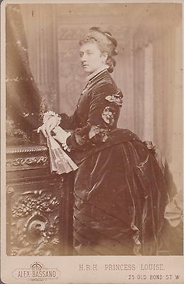 Vintage Cabinet Card Of Hrh Princess Louise By Alex-Bassano