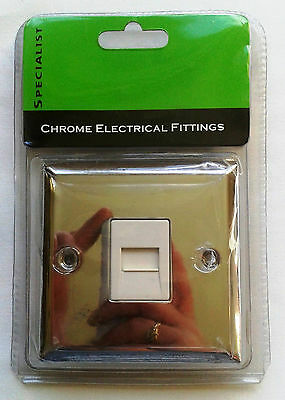 Chrome Telephone Socket for Secondary Line, surplus to requirement.