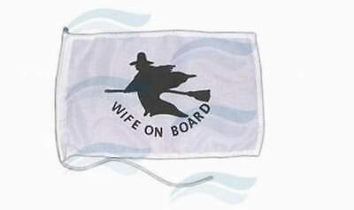 "PAVILLON ""WIFE ON BOARD"" 30X20 pour bateau  NEUF"