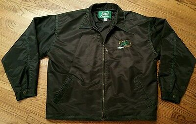 Team Kool Green IndyCar Racing Jacket Men XL black zip windbreaker TKG golf New