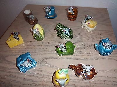 12 X Collection Vintage Collectable Mouse Ornaments