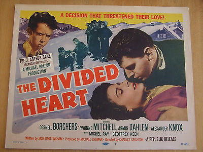 Set Of 8 Original Film Lobby Cards 1955 The Divided Heart Cornell Borchers