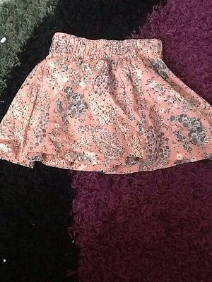 Girls Floral Skirt From H&M Size Xs About 12/13 Years