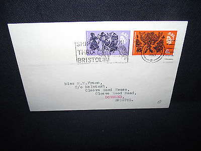 GB first day cover 1965 arts festival with a slogan cancel.