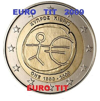 2 €  CHYPRE  COMMEMORATIVE  1  X  PIECE    2009   EMU     RARE  /   disponible