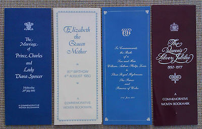 Cash's Silks - Selection Of Commemorative Woven Bookmarks