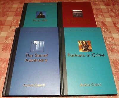 Agatha Christie Collection 4 Tommy & Tuppence Books Hb Partners In Crime Etc