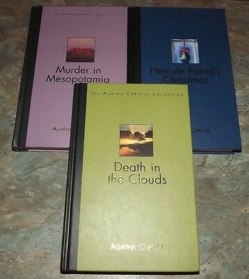 Agatha Christie Collection 3 Hercule Poirot Hb Books Death In The Clouds Etc