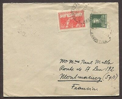 Argentina 1932 Airmail Cover Tartagal Salta To Montmorency France