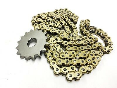 Higher Geared Chain and Sprocket set GOLD 16T front for Lexmoto Adrenaline 125