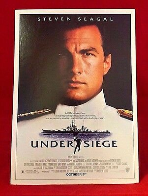 """UNDER SIEGE 9"""" Promotional Counter Standee 90's Rare Steven Seagal Action Movie"""